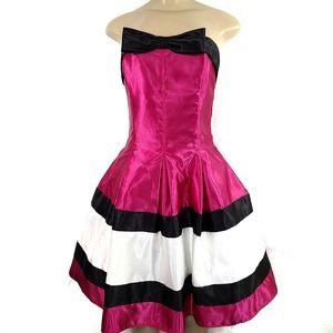 EEUC Jessica McClintock Gunne Sax Satin Mini Dress